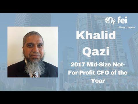 Khalid Qazi Accepts the 2017 Mid-Size Not-For-Profit CFO Award