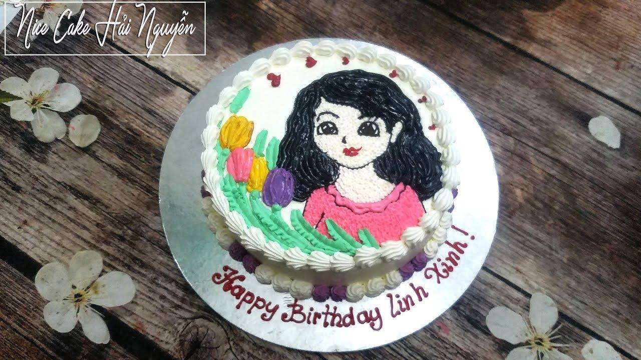Bánh Sinh Nhật Vẽ Hình Chibi Chân Dung – How To Draw Chibi On Cake