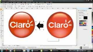 tutorial corel draw - logo de claro con detalles