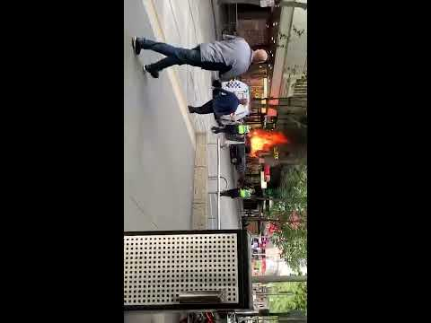 Bourke st Melbourne emergency. Police shoot knifeman. WARNING!confronting Full footage 9th 11 2018