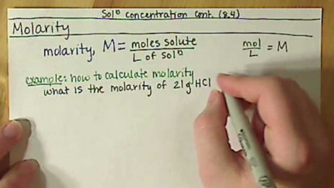 How can molarity be used as a conversion factor? | Socratic