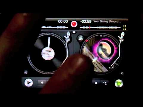 DJ Ravine DJaying with djay on iPhone