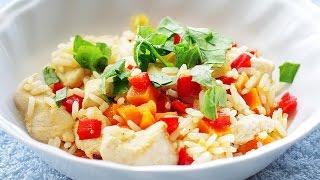 cómo hacer pollo salteado con pimientos y arroz