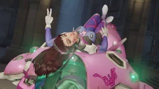 d va lying around highlight intro