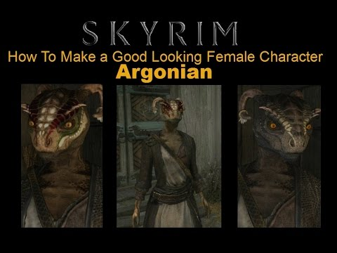 Skyrim Special Edition - How To Make a Good Looking Character - Argonian Female - No mods