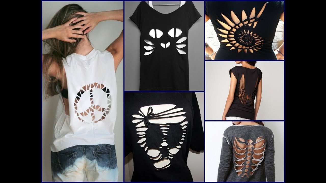 30 Best DIY T Shirt Cutting Ideas For Girls   DIY Clothes Life Hacks