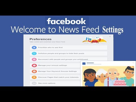Facebook News Feed Preferences Setting 2018