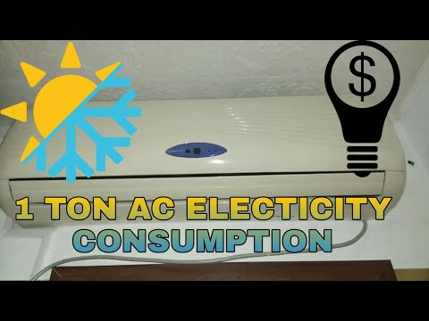☀❄🍃 How much electricity consumed by a 1 Ton / 12000 BTU AC / Air Conditioner