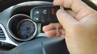 "Fix ""key not detected"", reprogramming remote, Dodge Journey 2013"