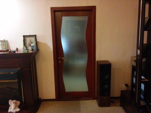 Межкомнатные двери из массива- деревянные двери со стеклом - демонстрация