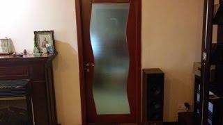 Межкомнатные двери из массива- деревянные двери со стеклом| двери под заказ Днепропетровск(Представляю внешний вид заказной современной необычной сосновой двери под стеклом которую можно заказать..., 2014-10-12T20:41:42.000Z)