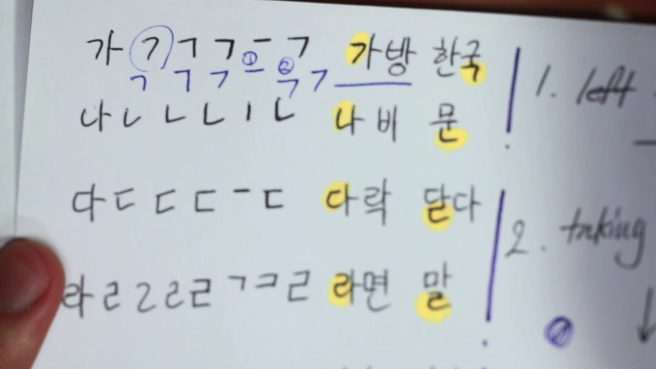 Unit 0: Learn How to Read Hangul