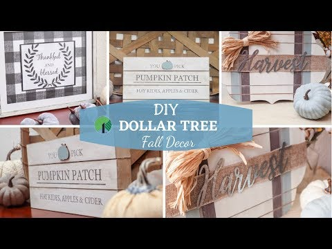 DIY Dollar Tree Fall Decor | Farmhouse Signs