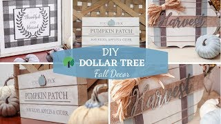 DIY Dollar Tree Fall Decor | Farmhouse Signs
