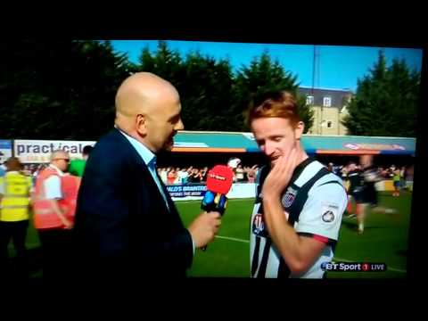 Craig Disley's Reaction To Grimsby's Play-Off Win At Braintree