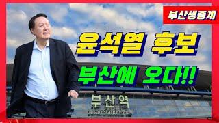 윤석열후보 부산 자갈치 시장 초토화