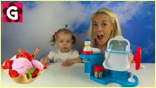 Toy Ice Cream Maker Machine Makes Real Food. Does it Work? DIY with Gaby and Mommy