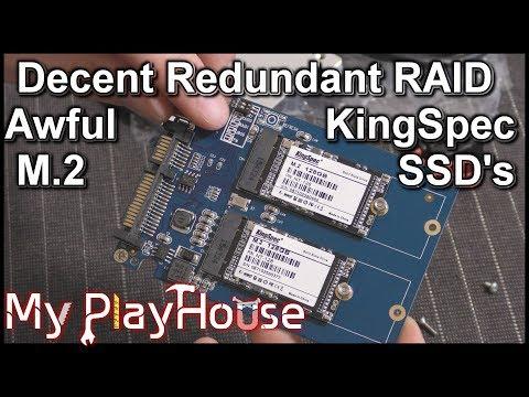 Redundant M.2 SSD Solution, But the KingSpec's Stinks - 618