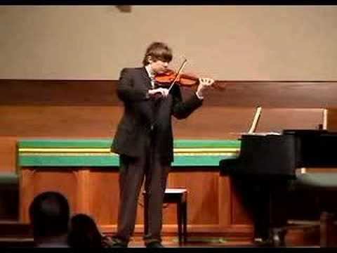 Gavotte in D major, J.S. Bach.  Matthew B. Wallace, violin