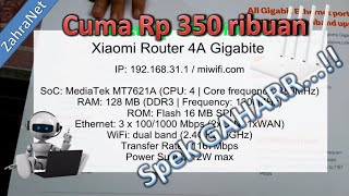 Spesifikasi router terbaik harga murah dual band lan 1gbps pakai Xiaomi Router 4A Gigabit Edition