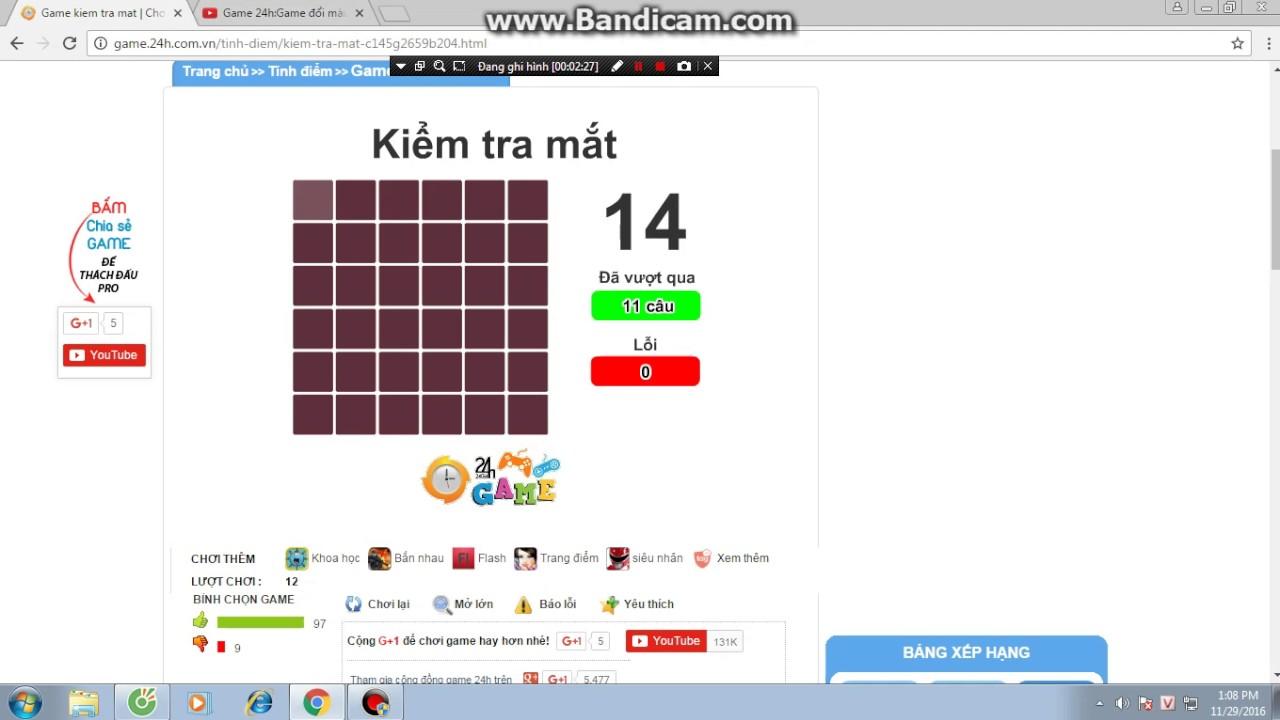 Game 24h :Game kiểm tra mắt ai mắt kém thử chơi trò này nhé!!
