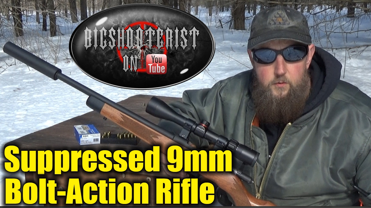 9mm Bolt Action Suppressed Rifle