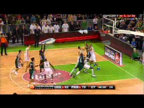 Euroleague: Union Olimpija-Panathinakos (85:84-OT)