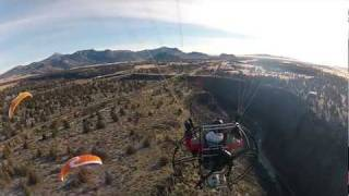 Powered Paragliding Crooked River and Flying Bridges with Friends