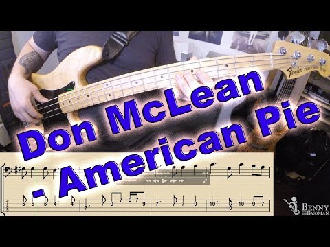 Don McLean - American Pie [BASS COVER] - With notation and tabs