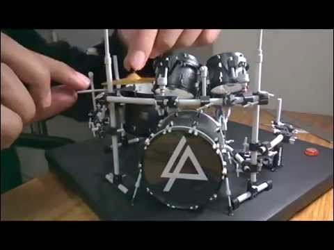 Papercraft Rob Bourdon's (Linkin Park) drum set paper model