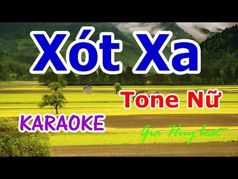 Xót Xa - Karaoke - Tone Nữ - Nhạc Sống - gia huy beat -  karaoke  Xót Xa