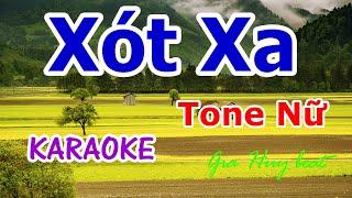Xót Xa - Karaoke - Tone Nữ - gia huy beat -  karaoke - Xót Xa