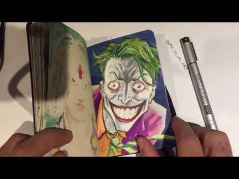 Flipping Through My Moleskin Sketchbook Copic Marker Art