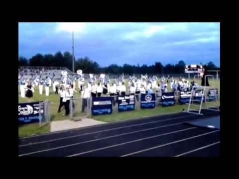 Fred T. Foard HS Band with Jacobs Fork Middle School Band-National Anthem-September 26, 2014