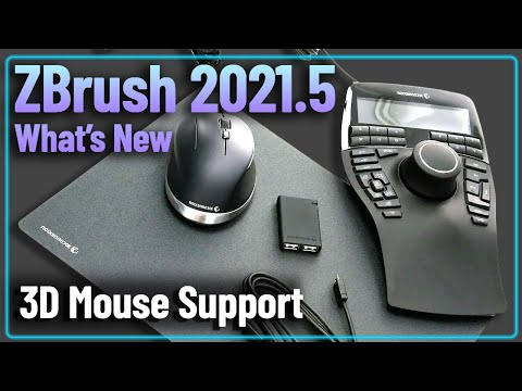 069 ZBrush 2021.5 - 3D Mouse Support - Universal 3D Connexion Space Mouse Navigation for your Apps!