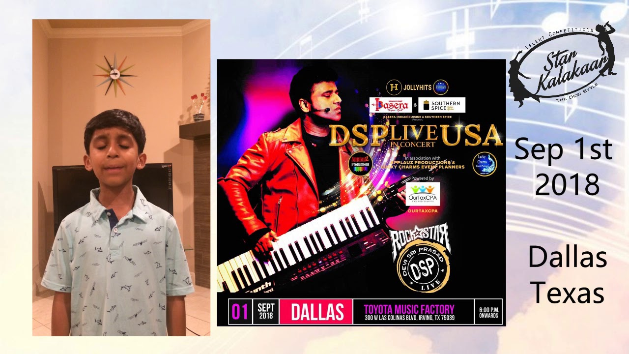 Excellent opportunity to perform at DSP (DeviSri Prasad) Live in Concert 2018