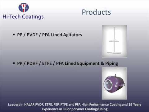 HALAR Coating, ETFE Coating, PVDF Coating, PFA Coating, Lining Unit