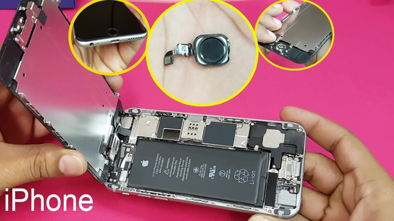 official photos bc2ee f4dc2 iPhone 6 /iPhone 6s- Home Button || Fingerprint Sensor Replacement || How  to open Apple iPhone 6/6s