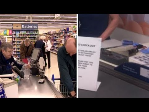 Customers Wonder Why Checkout Lane Is Moving Slowly Then Read Sign And Are Left Without Words