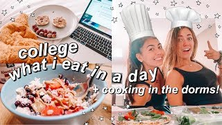 college what i eat in a day + COOKING IN DORM!
