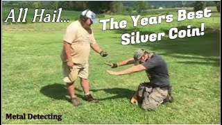 Metal Detecting Digs Up exquisite Silver Colonial Coin we