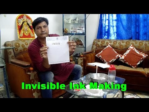 best invisible ink making formula how to make invisible ink youtube. Black Bedroom Furniture Sets. Home Design Ideas