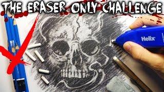 The Eraser ONLY Art CHALLENGE! + Horror STORY