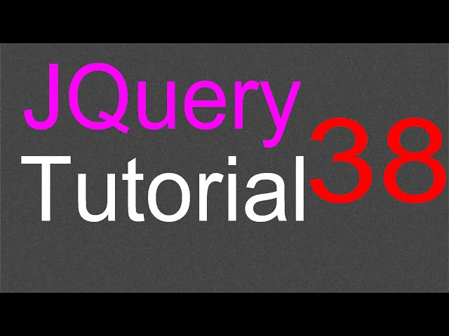 jQuery Tutorial for Beginners - 38 - Styling the accordion