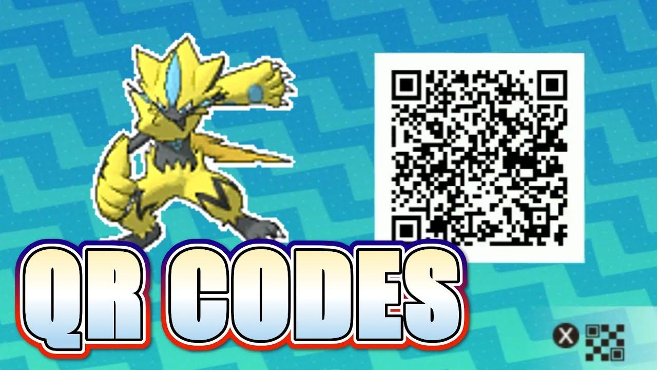Tous Les Qr Codes De Pokemon Ultra Soleil Et Ultra Lune Youtube
