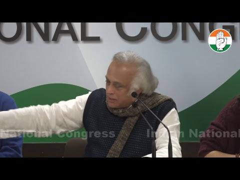 AICC Press briefing by Jairam Ramesh at Congress HQ