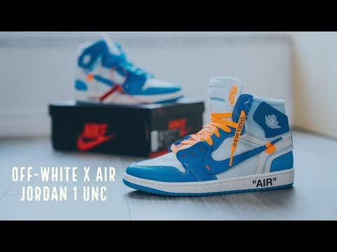 """Đập Hộp + Đánh giá + On Feet đôi OFF WHITE x Air Jordan 1 """"UNC"""" - Hung Dinh"""