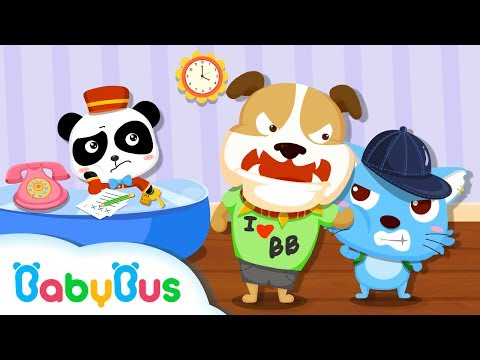 Panda Hotel - Puzzle|logical thinking ability|Animals get along|BabyBus Kids Games