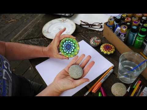 How to paint rock mandalas