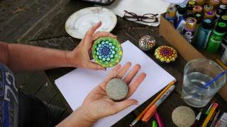 How to paint rock mandalas